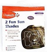 CLIPPASAFE FUN SUN SHADES (2) BLACK 3.50