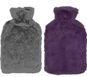 HOT WATER BOTTLE WITH COVER 7.99